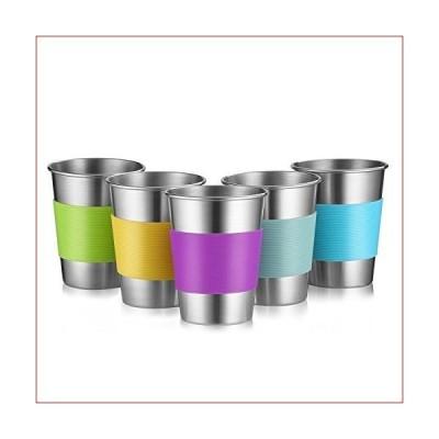 ステンレススチールカップ プレミアムメタルパイントカップタンブラー 12オンス 金属製ドリンクグラス
