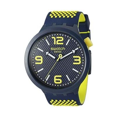 腕時計 スウォッチ レディース SO27N102 Swatch Big Bold Quartz Silicone Strap, Blue, 24 Casual Watc