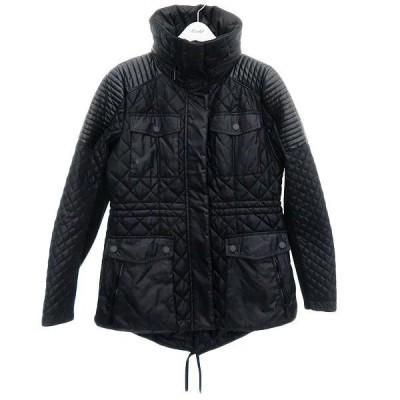 BCBGeneration フェイクレザー切替キルティングジャケット ブラック サイズ:S (明石店) 201012