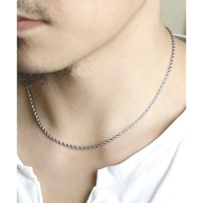 ネックレス 【ego na ghai/エゴナハイ】stainless necklacce twist chain /ステンレスネックレスねじれチェーン