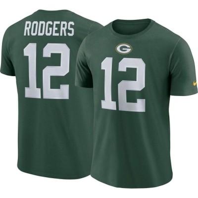 ナイキ Nike メンズ Tシャツ トップス Aaron Rodgers #12 Green Bay Packers Pride Green T-Shirt