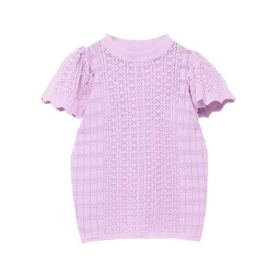 エイミーイストワール eimy istoire ケープスリーブopenwork knit (LAVENDER)