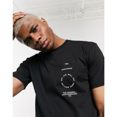 【残り1点!】【サイズ:XS】ヴァンズ Vans メンズ トップス Tシャツ distortion type t-shirt in black ブラック