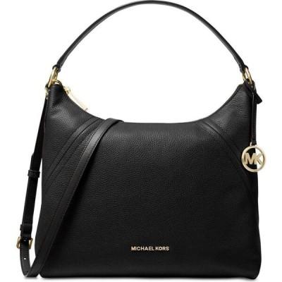 マイケル コース Michael Kors レディース ショルダーバッグ バッグ Aria Pebble Leather Shoulder Bag Black/Gold
