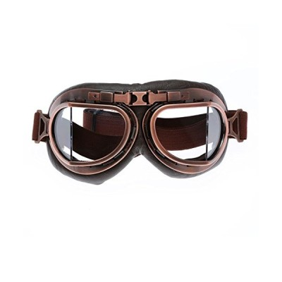 ヴィンテージゴーグル ハーレーバイクゴーグル オートバイクメガネ 多目的利用 保護メガネ  防砂塵 防風
