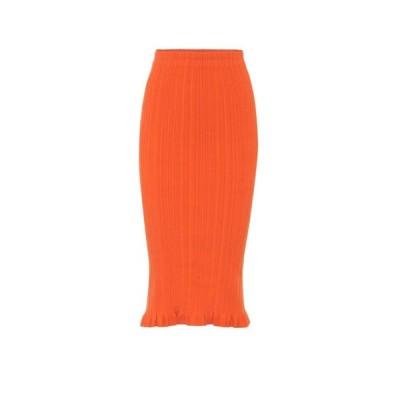 アクネ ストゥディオズ Acne Studios レディース ひざ丈スカート スカート ribbed-knit midi skirt Poppy Red