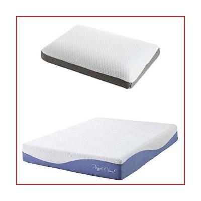 Perfect Cloud Atlas 10-inch Memory Foam Mattress and Dual Option Cooling-Gel Memory Foam Pillow Bundle (Queen)【並行輸入品】