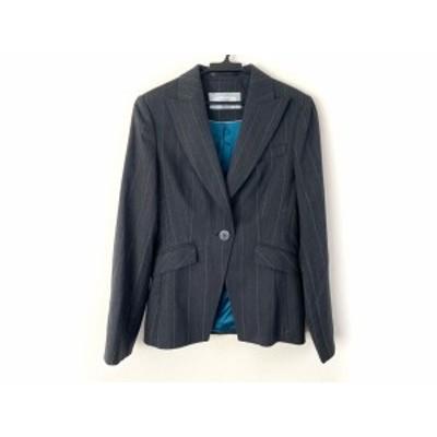 ネクスト NEXT ジャケット サイズ10 L レディース 美品 グレー ストライプ【還元祭対象】【中古】20200211