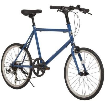 RIPSTOP(リップストップ) 自転車 ミニベロ 20インチ 小径車 シマノ製7段変速 RSM-01 trot(トロット) ブルー 470mm 50