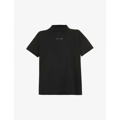 アリクス 1017 ALYX 9SM レディース Tシャツ トップス Logo-print cotton-blend T-shirt BLACK