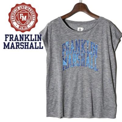 フランクリン&マーシャル FRANKLIN & MARSHALL Tシャツ カットソー レディース ロゴプリント 薄手 半袖 TSHIRT JERSEY ROUND NECK SHORT