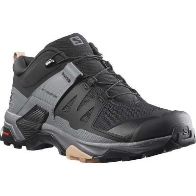 サロモン シューズ レディース ハイキング Salomon Women's X Ultra 4 Shoe Black / Quiet Shade / Sirocco