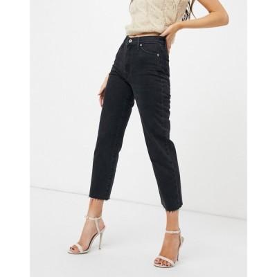 リバーアイランド River Island レディース ジーンズ・デニム ボトムス・パンツ straight leg jeans in washed black ウォッシュブラック