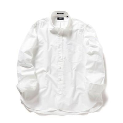 シャツ ブラウス SHIPS×IKE BEHAR: アメリカ製 オックスフォード ラウンドカラー シャツ