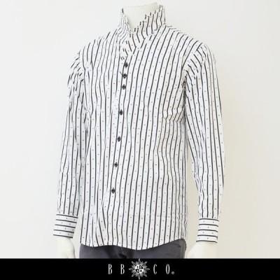 BBCO(ビビコ) 長袖シャツ ホワイト×ブラック GW 1414 1