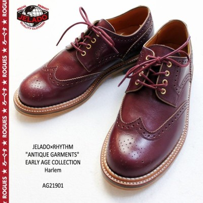 "JELADO ジェラード シューズ ×RHYTHM FOOTWEAR ""ANTIQUE GARMENTS"" EARLY AGE COLLECTION Harlem AG21901 靴 メンズ 革靴"