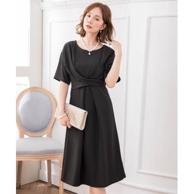 【ドレス スター】 2WAYウエストリボンワンピースドレス レディース ブラック XXXLサイズ DRESS STAR
