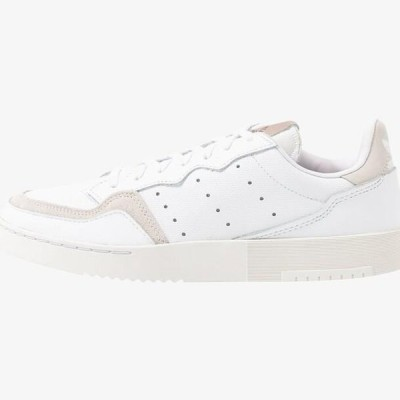 アディダス レディース 靴 シューズ SUPERCOURT - Trainers - footwear white/platin metallic