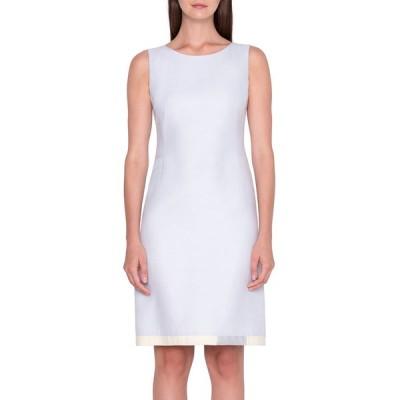 アクリス レディース ワンピース トップス Cotton-Silk Sheath Dress