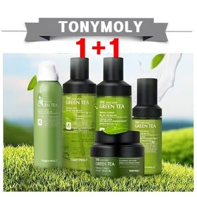 TONYMOLY[トニーモリー]1+1さらっと潤う心地ザー潤いグーリンティートナーエマルジョンエッセンスクリームTonymoly The ChokChok Greentea