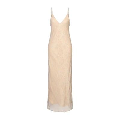 MES DEMOISELLES ロングワンピース&ドレス ベージュ 42 レーヨン 100% ロングワンピース&ドレス