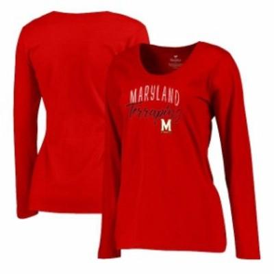 Fanatics Branded ファナティクス ブランド スポーツ用品  Fanatics Branded Maryland Terrapins Womens Red Plus Size