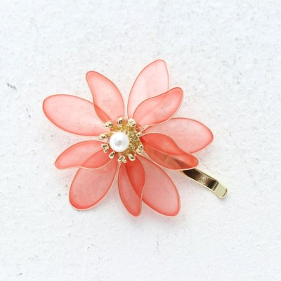 キアラ CHIARA フラワーモチーフ フックポニー (ピンク)