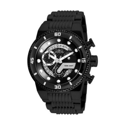 腕時計 インヴィクタ Invicta 25284 Men's S1 Rally Black Carbon Fiber Dial Chrono Watch
