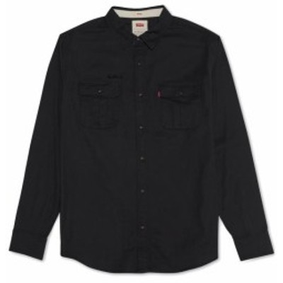 Levis リーバイス ファッション アウター Levis Mens Shirt Black Size Large L Stretch Long Sleeve Button Down
