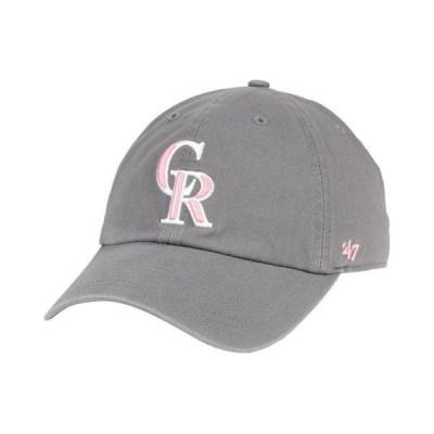 47ブランド レディース 帽子 アクセサリー Colorado Rockies Dark Gray Pink CLEAN UP Cap