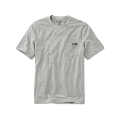 tシャツ Tシャツ メンズ ジャパン・フィット ケアフリー・アンシュリンカブル・ティ、半袖 ポケット付き カタディン・ロゴ ジャパン・フィット