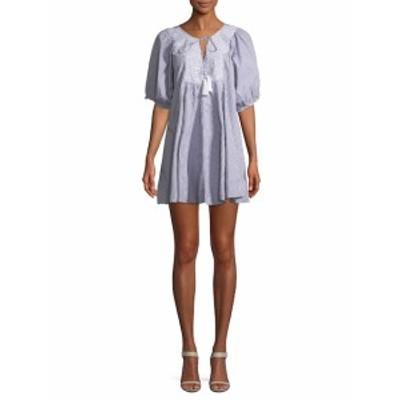 レンビー レディース ワンピース Embroidered Mini Dress