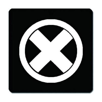 家紋 捺印マット 丸に直違紋 11cm x 11cm KN11-0691W 白紋