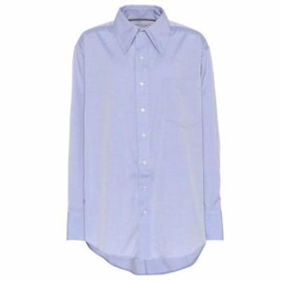 マシュー アダムズ ドーラン Matthew Adams Dolan レディース ブラウス・シャツ トップス Oversized cotton shirt Blue