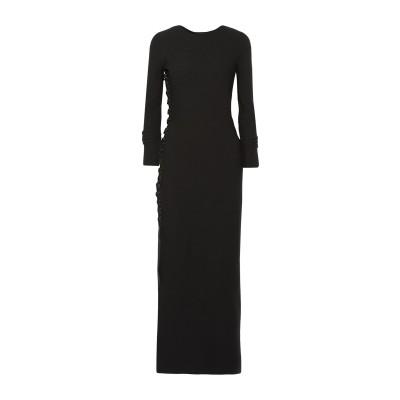 THE ROW ロングワンピース&ドレス ブラック XS ウール 92% / ポリエステル 8% ロングワンピース&ドレス