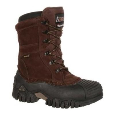 """ロッキー メンズ ブーツ&レインブーツ シューズ 10"""" Jasper Trac Insulated Outdoor 4799 Brown Leather"""