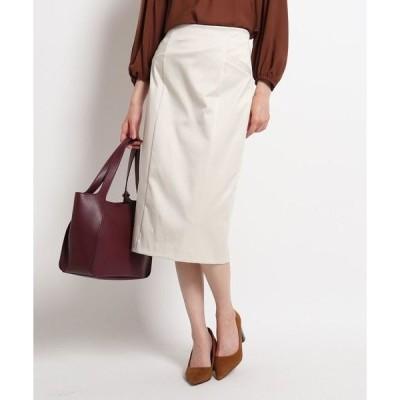 COUP DE CHANCE / クードシャンス 【洗える】バレンシアサテンタイトスカート