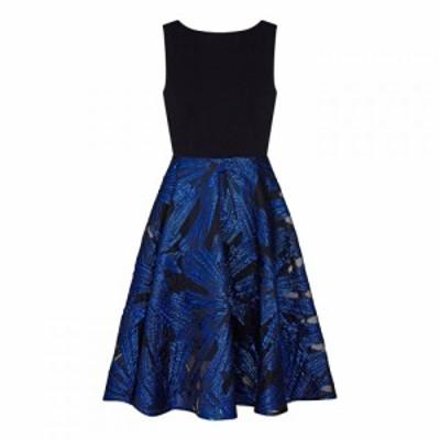 アリエラ ロンドン Ariella London レディース ワンピース ワンピース・ドレス Ariella Gila Metallic Burnout Dress BLACK BLUE