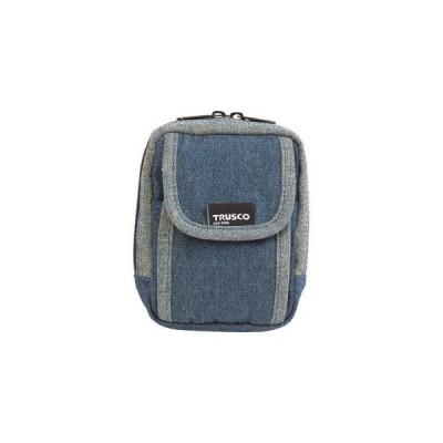 トラスコ中山 デニム携帯電話用ケース 2ポケット ブルー ツールホルダ TDC-H101 返品種別B