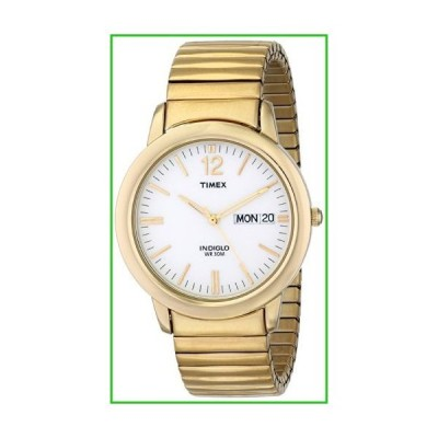 Timex Men's T21942 Chambers Street Gold-Tone Stainless Steel Expansion Band