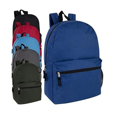 Wholesale High Trails 19 Inch Double Zip Backpack With Two Side Mesh Pockets (Boys 5 Pack Assorted) 並行輸入品