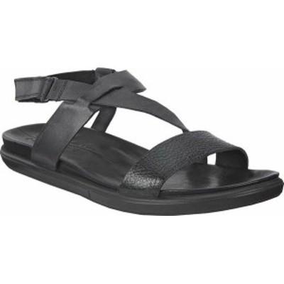 エコー レディース サンダル シューズ Simpil Strappy Sandal Black/Black Leather