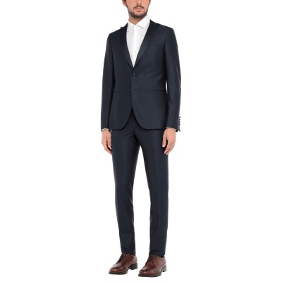 パオローニ PAOLONI スーツ ダークブルー 48 レーヨン 51% / バージンウール 47% / ポリウレタン 2% スーツ