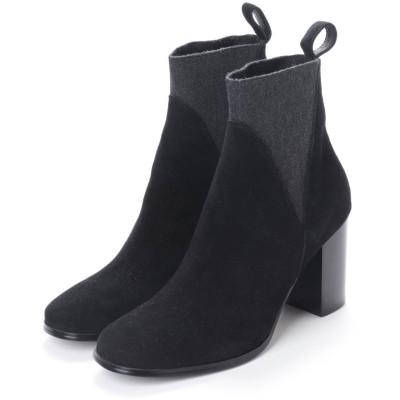 ヌエール nouer nouer=LUXE= シープシルキーショートブーツ (ブラック)