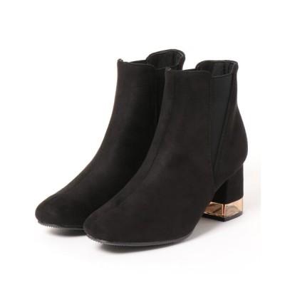 Mafmof / ElvisLuce(エルビスルーチェ) クリアヒールサイドゴアスクエアトゥ ショートブーツ WOMEN シューズ > ブーツ