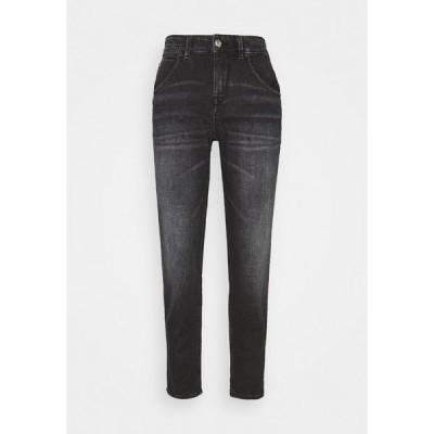 ドライコーン デニムパンツ レディース ボトムス LIKE - Straight leg jeans - blue-black denim