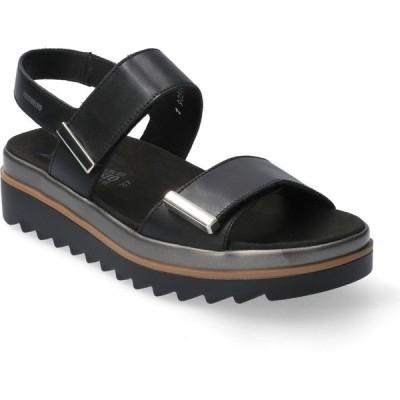 メフィスト MEPHISTO レディース サンダル・ミュール シューズ・靴 Dominica Sandal Black Leather