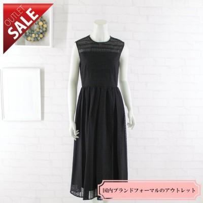 61%OFF 結婚式 二次会 ドレス ミモレ丈ミディ丈 |幾何学レースのミディ丈ドレス9号(ブラック)