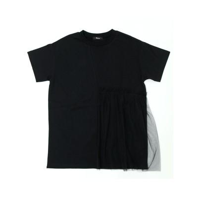 【UNICA】ロング丈チュールTシャツ