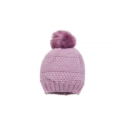 San Diego Hat Company サンディエゴハットカンパニー レディース 女性用 ファッション雑貨 小物 帽子 ビーニー ニット帽 Knit Beanie w/ Faux Fur Pom - Lav..